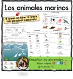 Sea animals in Spanish /  Animales marinos/  los animales del mar