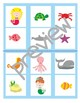 Sea animals BINGO game.