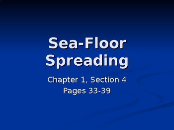 Sea-floor Spreading PowerPoint