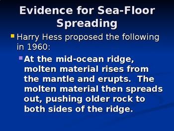 Sea-floor Spreading PowerPoint