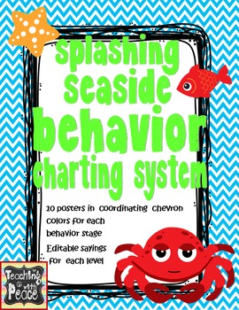 Sea or Ocean Theme Behavior Charting System *editable*