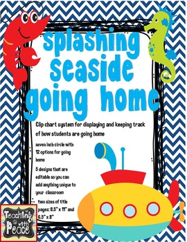 Sea or Ocean Theme Going Home *Clip Chart System*