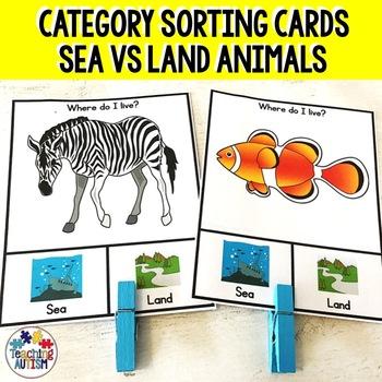 Sea v Land Sorting Categories Task Cards