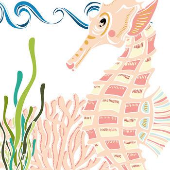 Sea Creatures Clip Art SeaHorse & Turtle ClipArt, Ocean Animals, Under the Sea