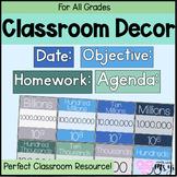 Seaglass Classroom Decor and Math Tools Bundle