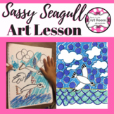 Art Lesson: Seagull Art Game | Art Sub Plans