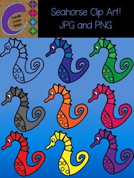 Seahorse Clip Art  Color Images
