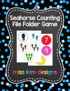 Seahorse Counting File Folder Game for Early Childhood Spe