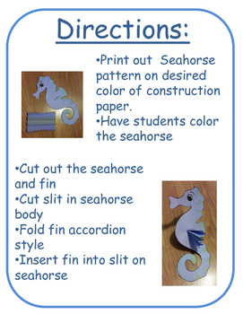 Seahorse Craft (ocean, under the sea)