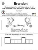 Seahorse - Editable Name Booklet - 3 Pgs *o