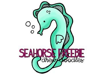 Seahorse Digital Clip Art Freebie