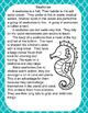Seahorse Nonfiction Text Passage and Comprehension Questions