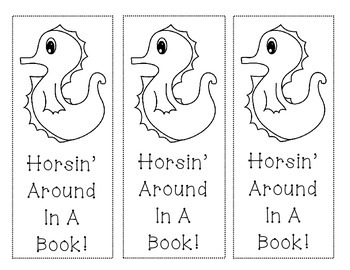 Seahorse Ocean Themed Bookmarks (Free!)