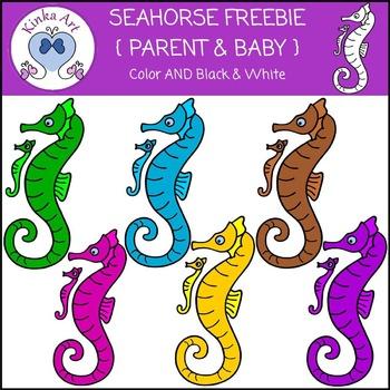 Seahorse {Parent & Baby} Clip Art FREEBIE
