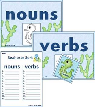 Seahorse Summer Nouns and Verbs