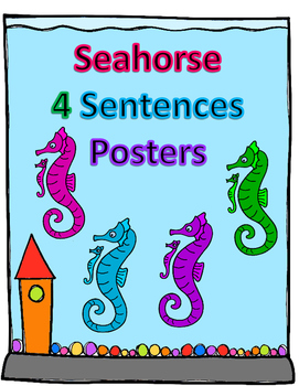 Seahorse and baby 4 sentence posters