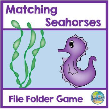 Seahorses File Folder Game