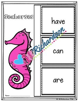 Ocean Animals - Seahorses Writing Flap Books!