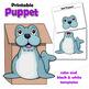 Seal Craft - Paper Bag Puppet Seal