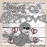 Seal Craft and Writing Bulletin Board