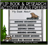 Seals (Sea Lion) Research Project and Flip Book   FREEBIE