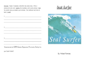 Seal Surfer Activity Booklet