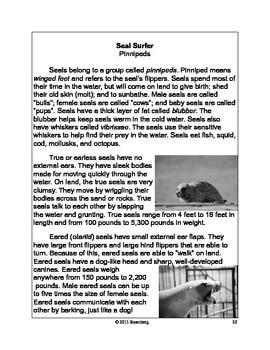 Seal Surfer Original Activies, Close Activity, and Standardized Test Practice