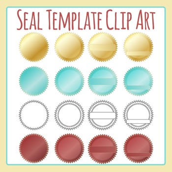 Seal Template Clip Art Set for Commercial Use