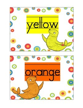 Seal Themed Color Word Cards