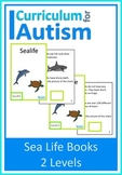 Ocean Sealife Interactive Adapted Books, 2 levels, Autism Special Education