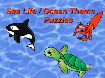 Sealife / Ocean Theme Puzzles