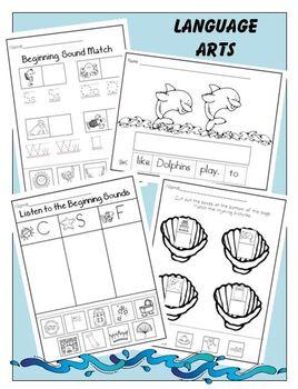 Sealife in Kindergarten: Science * Math * Music * Initial Sounds * Rhyming