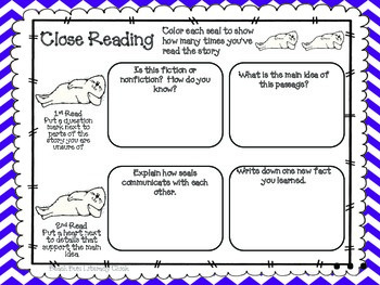 Seals - Close Reading and Activity Pack