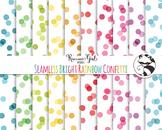 Seamless Bright Rainbow Confetti Digital Paper Set