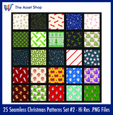 Seamless 'Christmas Patterns' Set #2 (Digital Clip Art)