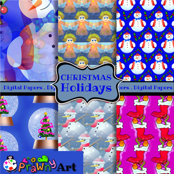 Seamless Christmas Textile Paper Patterns