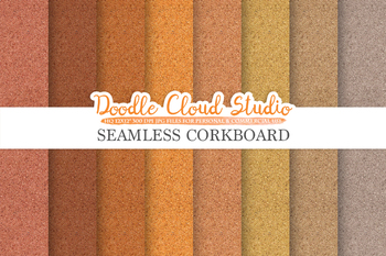 Seamless Corkboard digital paper, Cork Board Grey Brown Backgrounds