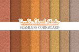 Seamless Corkboard digital paper, Cork Board Grey Brown Ba