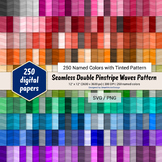 Seamless Double Pinstripe Waves Paper - 250 Colors Tinted