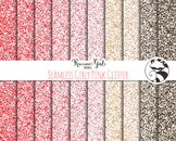 Seamless Girly Pink Glitter Digital Paper Set