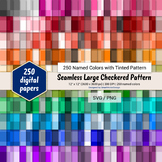 Seamless Large Checkered Pattern Paper - 250 Colors Tinted