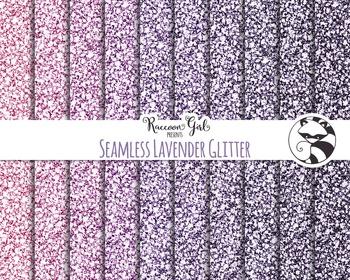 Seamless Lavender Glitter Digital Paper Set