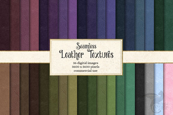 Seamless Leather Textures, digital paper backgrounds