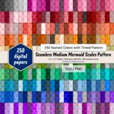 Seamless Medium Mermaid Scales Paper - 250 Colors Tinted