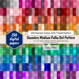 Seamless Medium Polka Dot Pattern Paper - 250 Colors Tinted