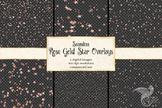 Seamless Rose Gold Star Overlays