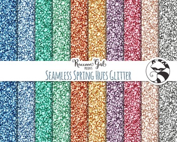 Seamless Spring Hues Glitter Digital Paper Set