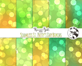 Seamless St. Pattys Day Bokeh Digital Paper Set