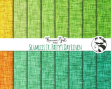 Seamless St. Pattys Day Linen Digital Paper Set