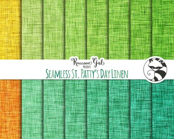 Seamless St. Pattys Day Linen Digital Paper Set